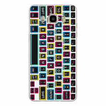 High quality computer keyboard Hard plastic case cover Free shipping For Samsung Galaxy A3 A5 A7 A8 J1 J5 J7 2016(China)