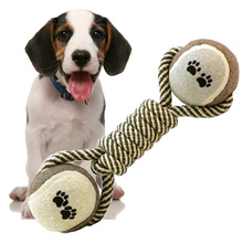Pet Dog Toys New Arrival Rope Dumbbell Bone Toy Resistant to Biting Chew Clean Teeth for Medium Large Dog Toy Pet Play Product(China)