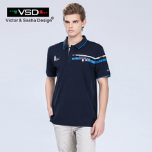 VSD 2017 New Summer Big Size Cotton Camisas Polo Shirts Man Short Sleeve Breathable Famous Brand Printing Men's Polos Homme Y680(China)