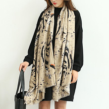 2017 good quality tiger scarf women shawls and scarves printing animal muslim hijab gorgeous cotton oversize  unique design soft
