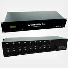 Artnet to DMX Node VENUS 16;artnet input;16x512 DMX512 signal output;With RJ45 in, RJ45 out, no need switch