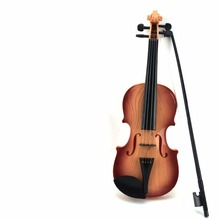 High Quality Touch Sounding Violin Children Imitation Wooden Instrument Toy Best Gift for Kids Powered by Battery(China)