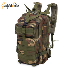 Guapabien New High Quality Camouflage Army Military Rucksack Backpack Multi Function  Oxford Backpack Big Capability Men Bag