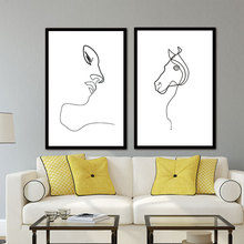 Picasso Minimalist Art Canvas Poster Painting Black White Linear Art Abstract Picture Print Modern Home Room Decor