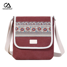Canvasartisan brand new women's messenger bag canvas retro leisure shoulder bag female daily travel small crossbody bags(China)