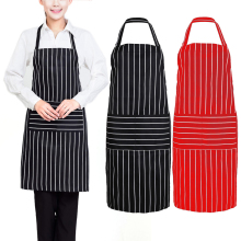 Stripe Kitchen Apron for Women Men Useful Cooking Apron Grid Adjustable Chef Cloth Household Cleaning Tools Accessories(China)
