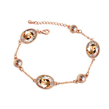 2016 Hot New Big Crystal Rose Gold Bracelets amp Bangles Crystals from Swarovski Women Pulseira One Direction Jewelry