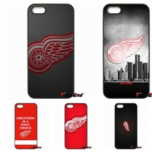 Detroit Red Wings Wood Style Hard Plastic Phone Case For iPhone 4 4S 5 5C SE 6 6S 7 Plus Galaxy J5 J3 A5 A3 2016 S5 S7 S6 Edge
