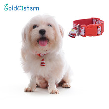 Newest Design High Quality Nylon Christmas Pet Dog Collar Santa Style with Bell for Pet Dog Puppy Pet Supplies Accessories(China)
