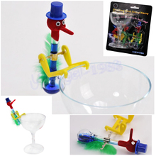 1pcs Red blue Novelty Retro Glass Beautiful Design Happy Mini Drinking Bird Kids Festive Gift Toy Free Shipping