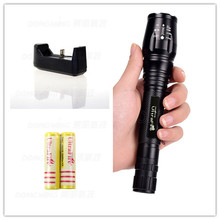 Flexible five bright Led flashlight tactical  linternas 4000 lumens outdoor camping tactical torch lamp+2*18650 battery+charger