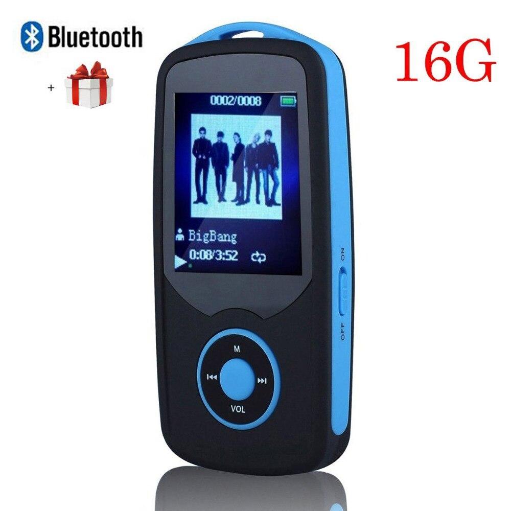2017 New Original RUIZU X06 16G Bluetooth MP3 Music Player 1.8 Inch 100Hr High Quality Lossless Recorder FM Radio Sports Walkman<br><br>Aliexpress