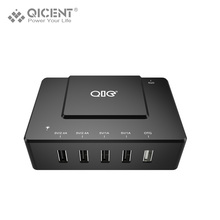 QICENT DOB Desktop USB Mobile Phone Charger 5V2.4A Smart Charging Adapter with 2 Ports OTG Function for Smartphone/ Tablet(China)