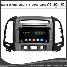 Car DVD Player For Hyundai SANTA FE 2012 Android 5.1 GPS Navigation Quad Core Radio RDS Bluetooth Wifi Mirror Link Map DAB DVR