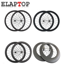 ELAPTOP Ultra Light 24 38 50 60 88 3850 5060 5088 6088mm Depth Tubular Clincher New Racing Bicycle Wheel Carbon Wheels Wheelset