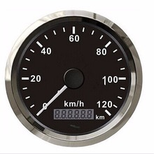 Free shipping 1pc 85mm GPS Speedometers 0-120km/h Speed Indicators Speed Chart with GPS Antenna for Automobile White(China)