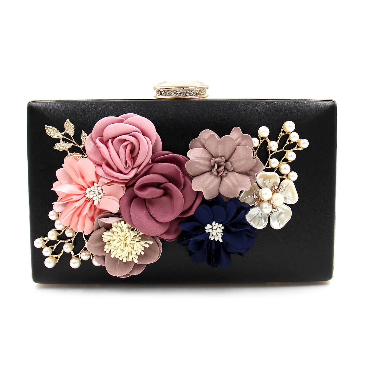 2017 Flower Women Evening Bags For Wedding Beads Embroidery Day Clutch Purses Diamond Pearl Evening Bag Party Messenger Bags<br>