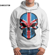 SAMCUSTOM hooded 2017 Custom Men's Fall Hoody British Flag Skull Hoodies Supreme hoodie Men Winter Hoodie Gift(China)