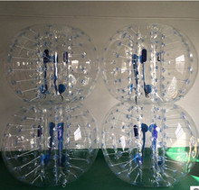 1M 4pcs+1 foot pump with factory Price, Inflatable Bubble Ball Suit For Team Building ,bubble soccer wholesale(China)