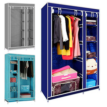 Wardrobe Closet Large Simple WardrobeWardrobe Cabinets Simple Folding Reinforcement Receive Stowed Clothes Store Content Ark(China)