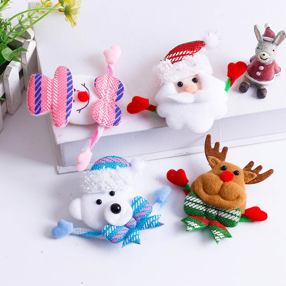 Hoomall Brooch Led Glowing Cartoon Santa Claus Snowman Deer Christmas Brooch Pin Cute Xmas Toy Flag Pin Art Pin Home & Garden Apparel Sewing & Fabric