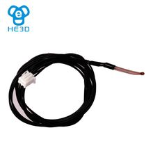 HE3D 100K thermistor cable 1m length single end glass seal NTC 3950 Dupont Head hotend sensor heatbed 3D printer part(China)
