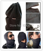 Tactical polar fleece warmer neck tube winter thermal snow mask scarf
