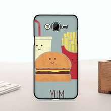 New Arrival Hot Sale Fashion phone case cover For  J7 case  Fast Food Hamburger fries coke