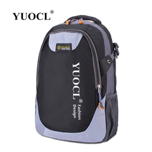 YUOCL Hot Sale Nylon Black Backpack Waterproof Men's Back Pack Laptop Mochila High Quality Designer Backpacks Male School Bag