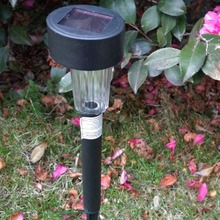 2017 New 12 pc Solar LED Light Outdoor Solar Lawn Garden Lights Landscape Path Stake Solar Lamp Plastic LED Spike Lights