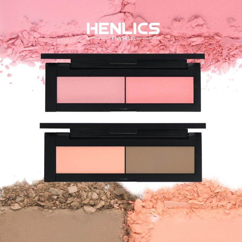 HENLICS Beauty Product Series Wonderful 2 Color Makeup Blush Face unlimited color fairy Blusher Powder Palette Cosmetic  (1)
