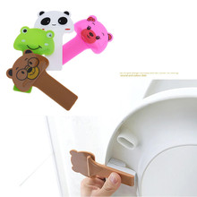 Portable Cartoon Rabbit Toilet Seat Handle Opener Lifter Bathroom Lid Cover Lifting Device Clamshell Holder Accessories Tools