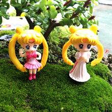 New Princess Girls Dolls Model Micro Fairy Garden Decoration Angel Miniatures Gnomes Cartoon Movie Action Figures Toys DIY
