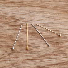Free Shipping 500Pcs/lot Silver Gold KC Gold Rhodium Copper Ball Head Pins Needles For Beads Earring Jewelry Findings 20x0.5mm