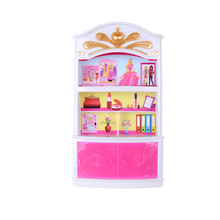 1Pcs Wardrobe Storage Cabinet Garderob Lockers Dolls Accessories Princess Bedroom Drawer Locker Kids Doll Furniture Toy