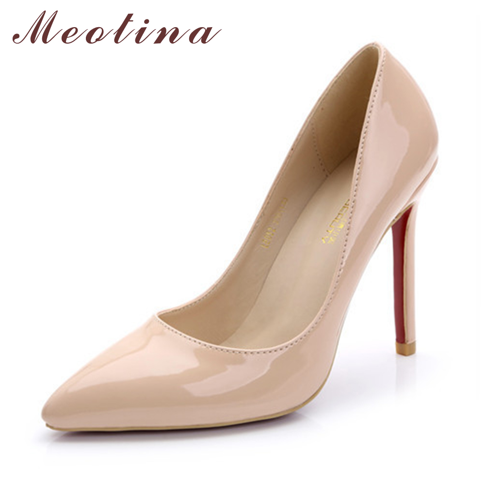Meotina Sexy Women Shoes Pumps Spring Pointed Toe Stiletto High Heels Female Solid Black Red Ladies Shoes Big Size 42 43 <br><br>Aliexpress