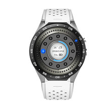 1.39inch round screen original model kingwear kw88 watch phone support heart rate gps wifi pedometer(China)