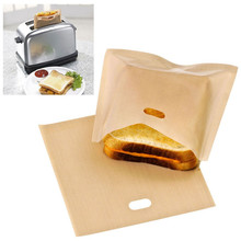 5 pcs/set Non Stick Sandwich Bags Bread Bag Reusable Toaster Bag Coated Fiberglass Toast Microwave Heating Pastry Tools(China)