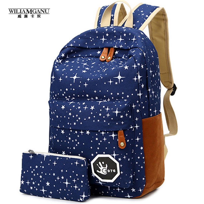 WILIAMGANU 2017 Fashion Hot Canvas Women Backpack Big Capacity School Bags For Teenagers Travelling Backpacks Girls Bags<br><br>Aliexpress