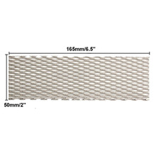 1pc Heat Resistance Titanium Mesh Sheet Silver Recycled Metal Mesh Electrode 50mmx165mm