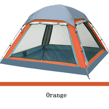 Outdoor Camping Tent 4 person Summer Equipment Family Tourism Beach Tents Three-season Double Layer Waterproof