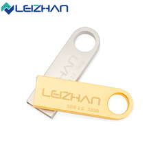 ORIGINAL LEIZHAN Metal USB Flash Drive Customized Logo  Pendrive High Speed 32G USB Stick 16G Pen Drive Flash Drive 8G 4G GIFT