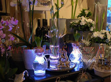 20pcs/lot 3AAA Battery Super Bright White/Warm White Waterproof LED Flower Vase Light Submersible Floralyte FLoral Light(China)