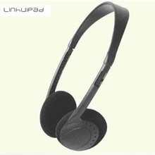 Linhuipad 3.5mm low cost headband headsets Disposable headphones for fitness centers, spas, gyms, educational use, hospitals