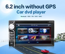 2016 New universal Car Radio Double 2 din 6.2inch Car DVD Player In dash Car PC Stereo Head Unit video without gps(China)