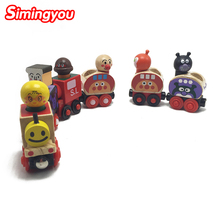 Simingyou Magnetic Puzzle Montessori Magnetic Wooden Hauling Trains Toys RB105 Drop Shipping