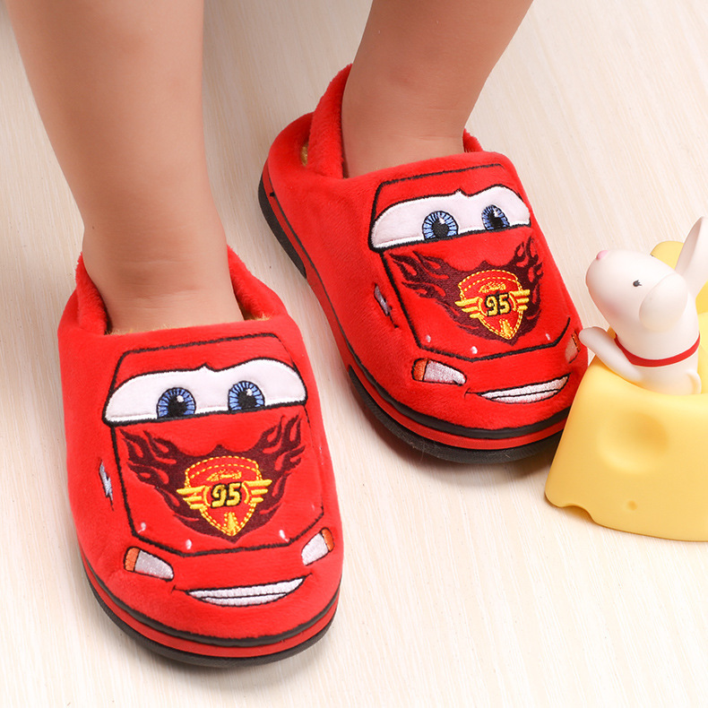 2016 New Arrival Cartoon Cars Series Children slippers Fashion Boys Toy House/Home Slippers Warm Soft Funny Winter/Fall Slippers<br><br>Aliexpress