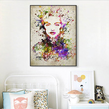 POPIGIST- Art Canvas Poster Marilyn Monroe Minimalist Painting Watercolor Movie Star Picture Print Home Room Decoration 090