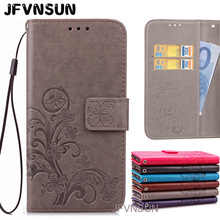 JFVNSUN Case for Microsoft Nokia Lumia 535 Leather Flip Cover for Nokia Lumia 535 Emboss Pattern Wallet Stand Phone Bag Fundas