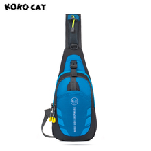KOKOCAT 2017 New Fashion Men Women Shoulder Bags Casual Travel Messenger Bags Large Capacity Chest Waist Handbags 9 Colors L17(China)